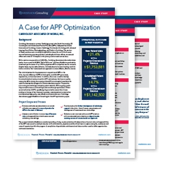 Thumbnail image for Case Study: Advanced Practice Providers (APP) Optimization