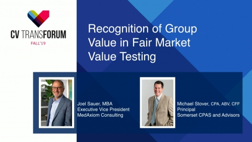 Thumbnail of CV Transforum Fall'19 – Recognition of Group Value in Fair Market Value Testing Video