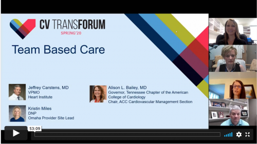Thumbnail of CV Transforum Spring'20: Team-Based Care in a Post-Pandemic World Video