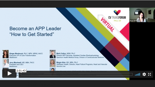 Thumbnail of CV Transforum F'20 Virtual: Become an APP Leader - How to Get Started Video