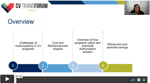 Thumbnail of CV Transforum F'20 Virtual: Optimize the Revenue Cycle with Prior Authorization Management Video