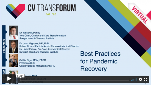 Thumbnail of CV Transforum F'20 Virtual: Best Practices for Pandemic Recovery Video