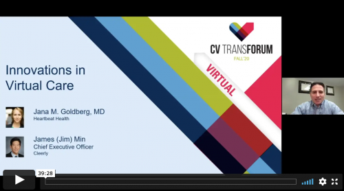 Thumbnail of CV Transforum F'20 Virtual: Breakthrough Innovations in Telehealth & Disease Management Video