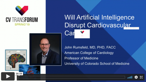 Thumbnail of CV Transforum Spring'19 – Will Artificial Intelligence Disrupt Cardiovascular Care? Video